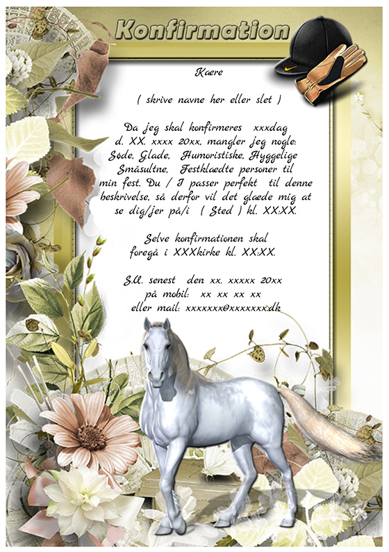 invitation til konfirmation design nr 5