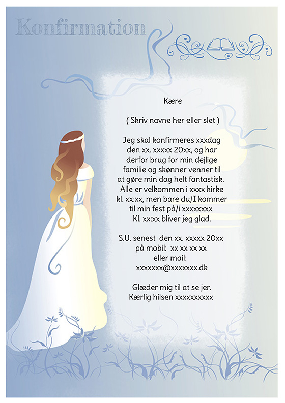 invitation til konfirmation design nr 8