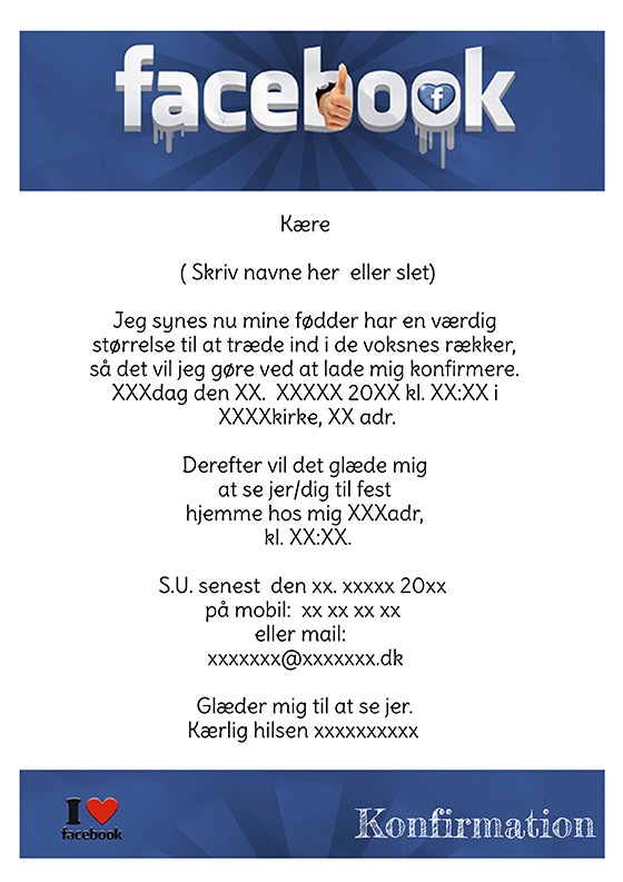 invitation til konfirmation design nr 9